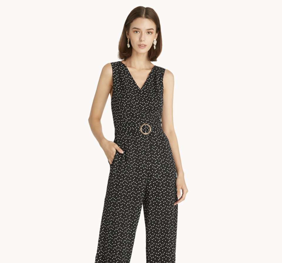 Heart Print Belted Jumpsuit. (PHOTO: Pomelo)
