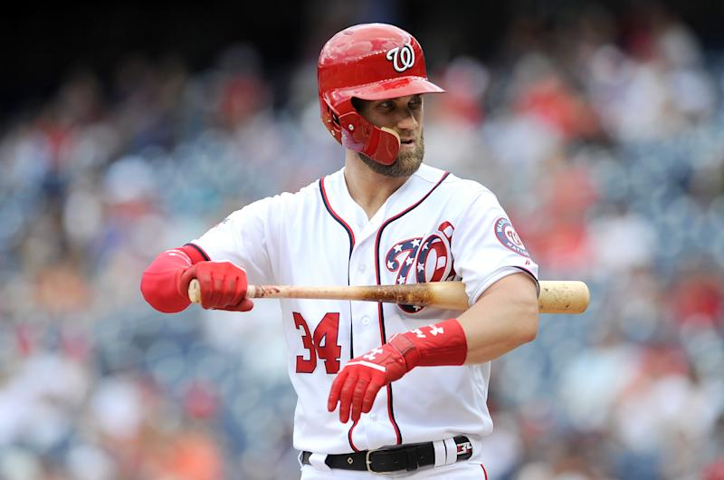 Bryce Harper made his mark in Washington. (Photo by G Fiume/Getty Images)