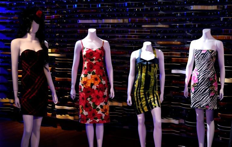 Auction house Julien's will put more than 800 personal effects belonging to Amy Winehouse -- which include shoes, shorts, bras, books and records -- under the hammer in Beverly Hills, California on November 6 and 7 (AFP/TIMOTHY A. CLARY)