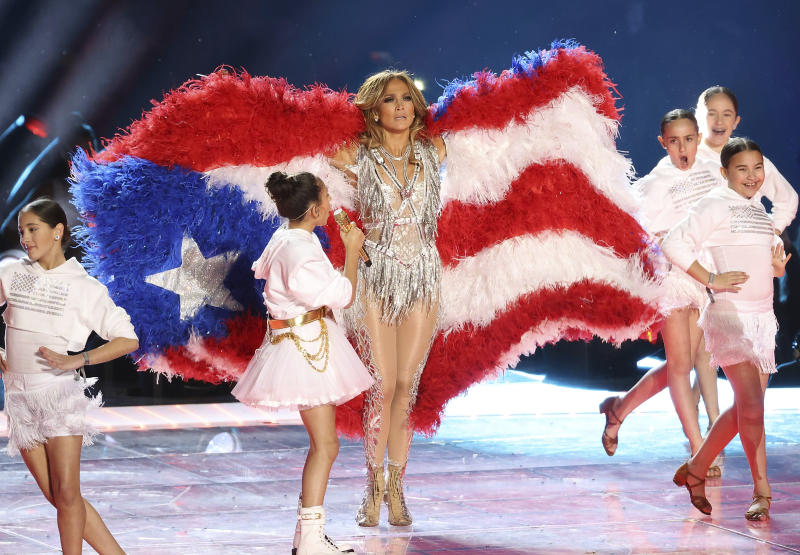 MIAMI, FLORIDA - FEBRUARY 02: Jennifer Lopez performs onstage during the Pepsi Super Bowl LIV Halftime Show at Hard Rock Stadium on February 02, 2020 in Miami, Florida. Photo: Christopher Victorio/imageSPACE/MediaPunch /IPX