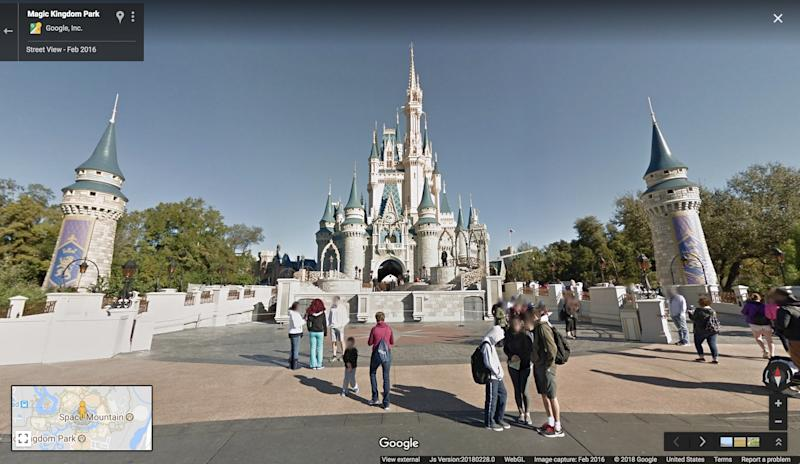 Explore Disney World from the comfort of your home with Google Maps