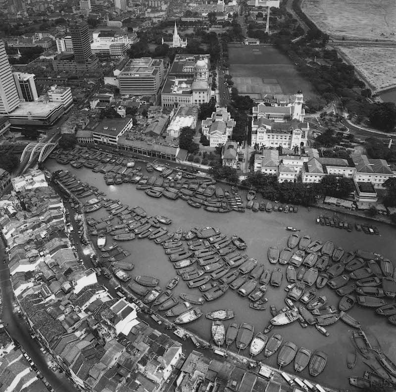 Aerial view of Singapore River. Photo: Lim Kwong Ling