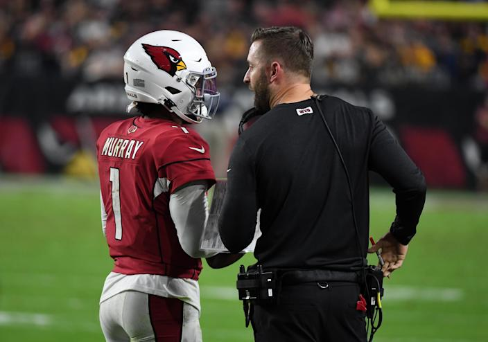 Kyler Murray and Kliff Kingsbury are the most important pieces in the Cardinals' rebuild. (Photo by Norm Hall/Getty Images)