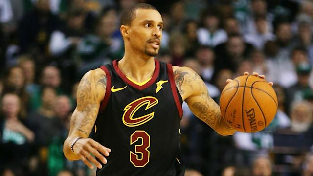 Cavaliers point guard George Hill is listed as questionable for Sunday's Game 4 of their first-round series against the Pacers after an MRI.