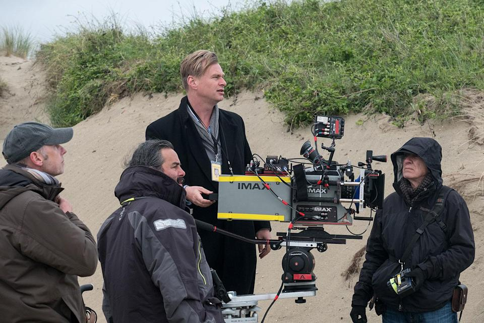Christopher Nolan on the set of 'Dunkirk' (Warner Bros. Home Entertainment)