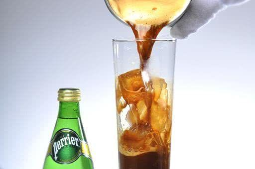 """<p><strong>Ingredients:</strong></p><p>2 bar spoons of coffee powder<br>2/3 oz of caramel syrup<br>1 chilled Perrier</p><p><strong>Directions:</strong></p><p>Pour the coffee powder and caramel syrup into a blender cup. Add a bit of Perrier and stir well to dilute the coffee powder. Then add 5 oz (15 cl) of chilled Perrier. Blend the cocktail until foamy. Pour mixture into a tall glass with ice cubes.</p><p><em>Courtesy of <a href=""""https://www.perrier.com/us/?gclsrc=aw.ds&iq_id=99524318-VQ16-c&utm_medium=cpc&utm_source=google&utm_campaign=Awareness_PERRIER_S_Brand_Exact&utm_term=99524318-VQ16-c&ds_kid=43700031627140491&gclid=CjwKCAjw8ZHsBRA6EiwA7hw_sb-tWe1dmHfthJsPjkJmDMYWQQ3WiTsLyjRUTqV6IeL8Yr_hA10_ZRoCZmoQAvD_BwE&gclsrc=aw.ds"""" rel=""""nofollow noopener"""" target=""""_blank"""" data-ylk=""""slk:Perrier"""" class=""""link rapid-noclick-resp"""">Perrier</a>.</em></p>"""