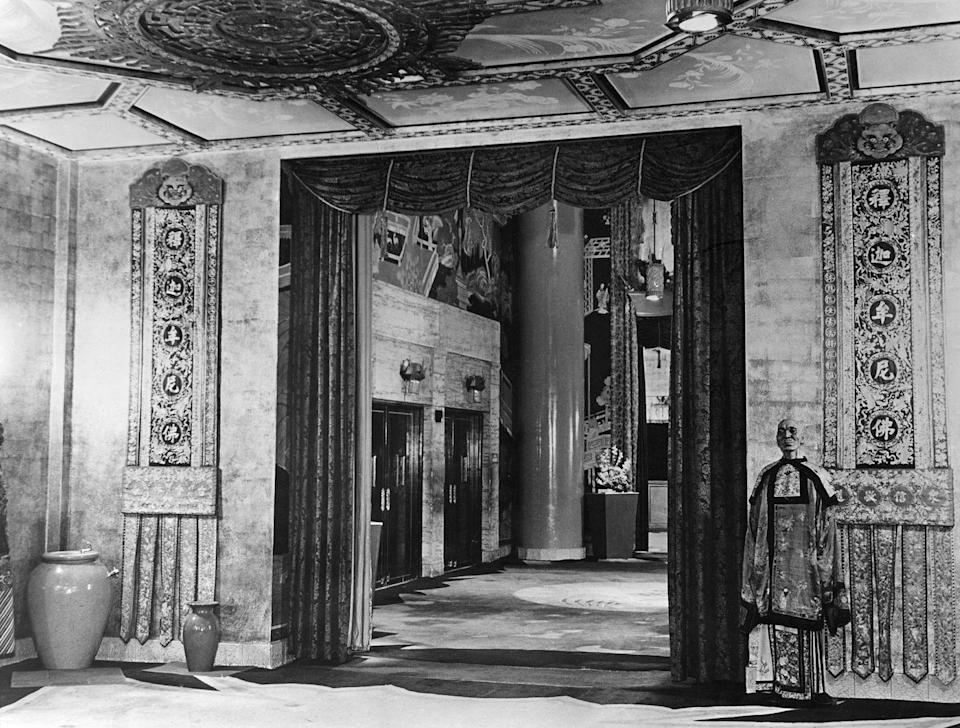 <p>Grauman's Chinese Theater along the Hollywood Walk of Fame opened in 1926. It was home to many award shows and movie premieres, like 1997's <em>Star Wars. </em>The theater, which seats 932 people, has one of the biggest movie screens in the country.</p>