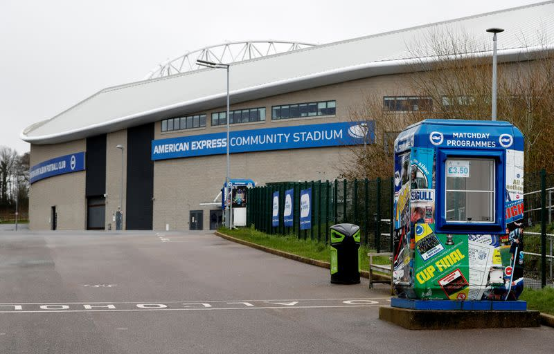 Brighton players collect 264,000 pounds for charities hit by pandemic