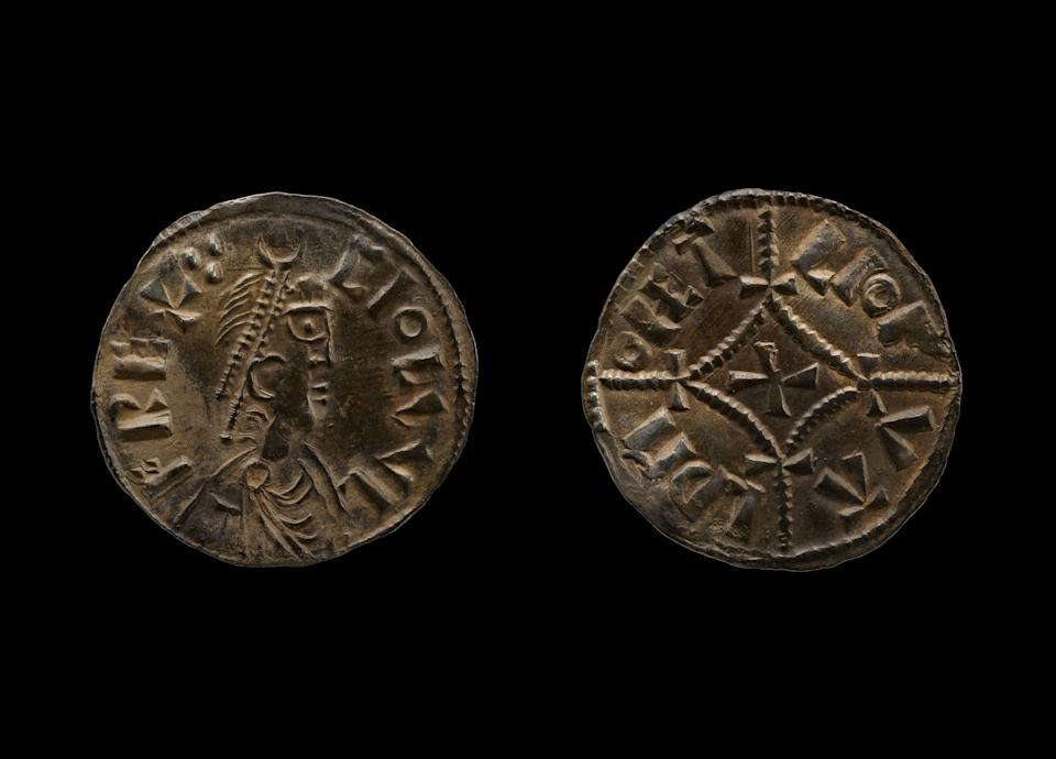Two Viking coins that were recovered (PA)