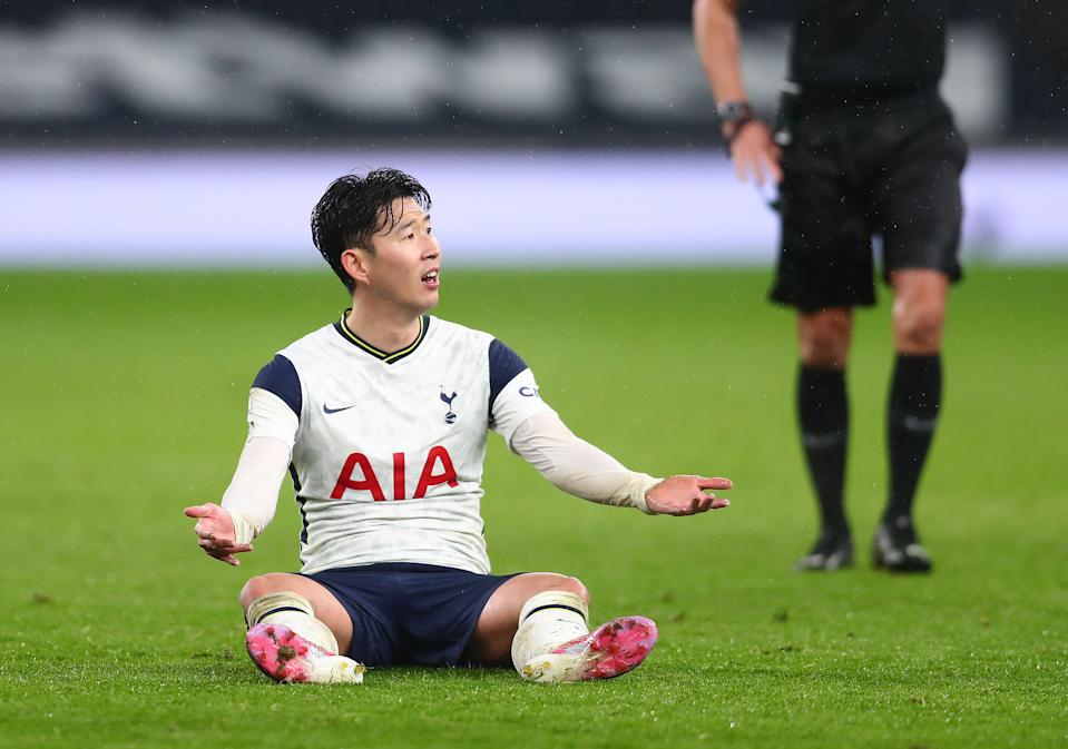 Son Heung-min of Tottenham Hotspur their Premier League match against Chelsea.