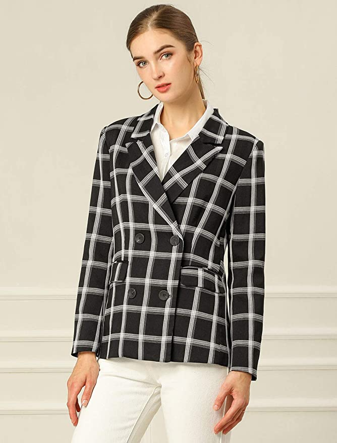 "<br><br><strong>allegra k</strong> Plaid Work Formal Blazer, $, available at <a href=""https://amzn.to/35Acoi3"" rel=""nofollow noopener"" target=""_blank"" data-ylk=""slk:Amazon"" class=""link rapid-noclick-resp"">Amazon</a>"