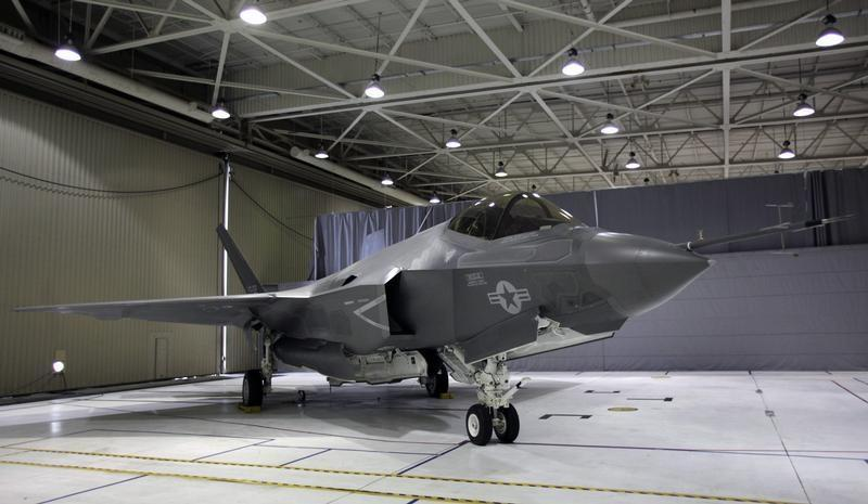 A F-35 Lightning II Joint Strike Fighter is seen at the Naval Air Station (NAS) Patuxent River