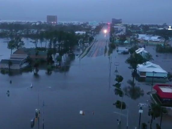 Drone footage captures the aftermath of Hurricane Sally in Gulf Shores, Alabama ( Live Storms Media, Brian Emfinger)