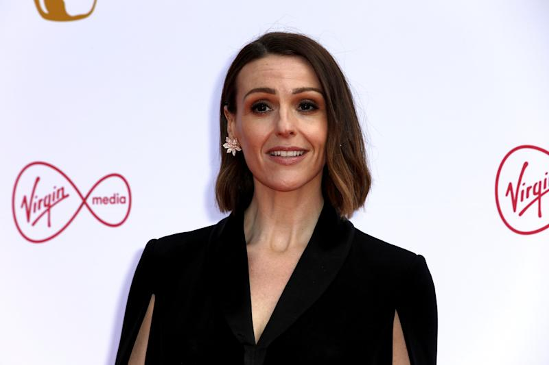Actress Suranne Jones poses for photographers on arrival at the 2019 BAFTA Television Awards in London, Sunday, May 12, 2019.(Photo by Grant Pollard/Invision/AP)
