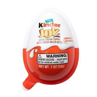 """<p><strong>Kinder</strong></p><p>walmart.com</p><p><strong>$39.02</strong></p><p><a href=""""https://go.redirectingat.com?id=74968X1596630&url=https%3A%2F%2Fwww.walmart.com%2Fip%2F761513725&sref=https%3A%2F%2Fwww.womansday.com%2Ffood-recipes%2Ffood-drinks%2Fg2201%2Feaster-candy%2F"""" rel=""""nofollow noopener"""" target=""""_blank"""" data-ylk=""""slk:SHOP NOW"""" class=""""link rapid-noclick-resp"""">SHOP NOW </a></p><p>Kids love these fun eggs that are treat and toy in one. They feature two separately sealed halves; one side containing layers of cocoa cream and milk topped with wafers and the other containing a surprise item.</p>"""