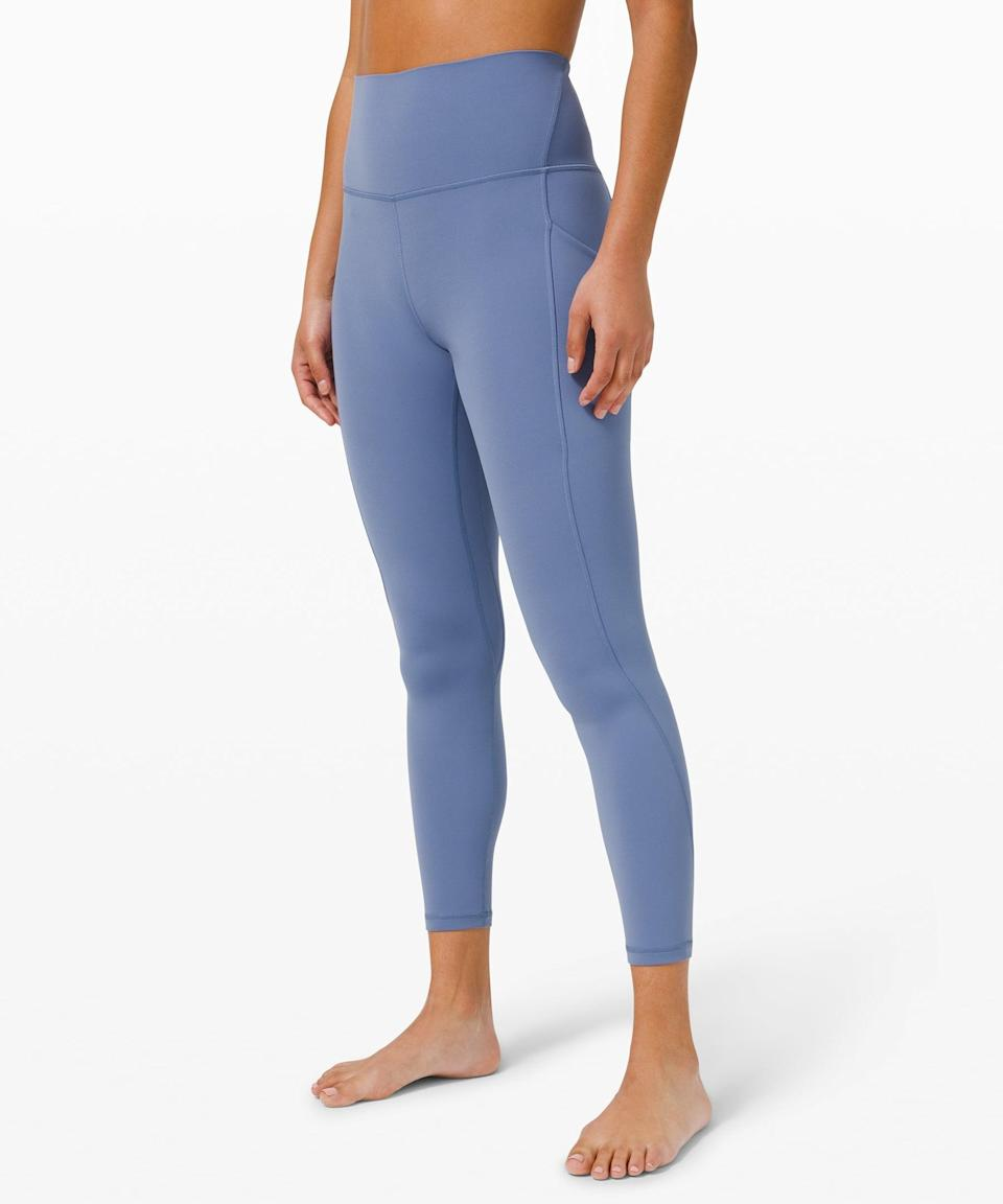 "<p>The color of these <span>Lululemon Align High Rise Pant with Pockets 25""</span> ($128) is gorgeous.</p>"
