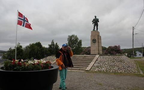 A monument to the liberation of Kirkenes from the German troops by the Red Army in 1944 - Credit: Alec Luhn/For The Telegraph
