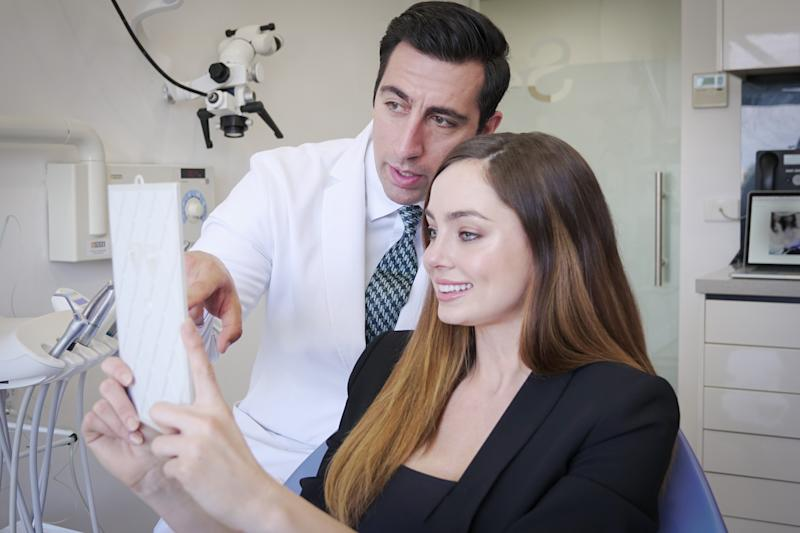 Dr Gamer Veridian consults with a patient. Picture: Supplied