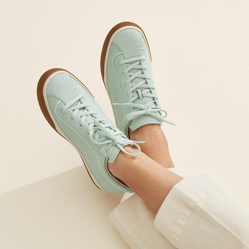 <p><span>Rothy's Lace-Up Sneakers in Spearmint</span> ($165)</p>