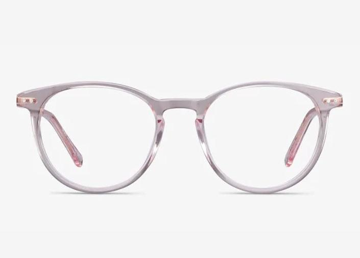 """These <a href=""""https://fave.co/30UXu3N"""" rel=""""nofollow noopener"""" target=""""_blank"""" data-ylk=""""slk:kids clear acrylic blue light-blocking glasses"""" class=""""link rapid-noclick-resp"""">kids clear acrylic blue light-blocking glasses</a> come in four colors. Find them for $39 at <a href=""""https://fave.co/30UXu3N"""" rel=""""nofollow noopener"""" target=""""_blank"""" data-ylk=""""slk:EyeBuyDirect"""" class=""""link rapid-noclick-resp"""">EyeBuyDirect</a>."""