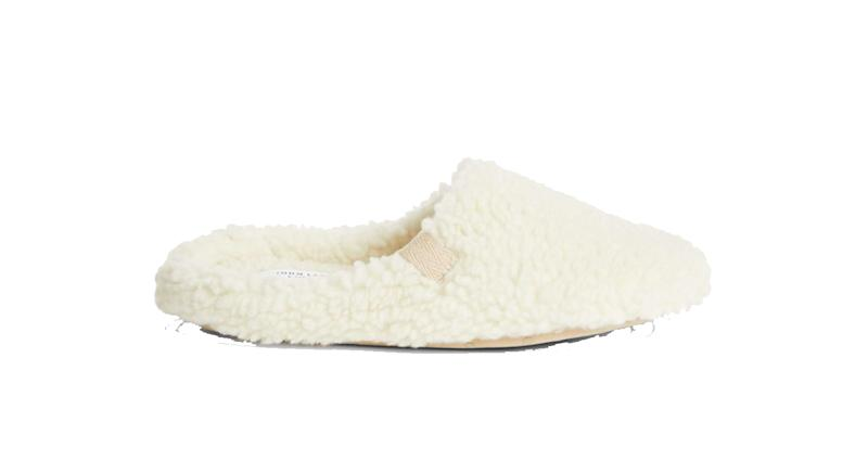 Borg Sustainable Faux Fur Mule Slippers