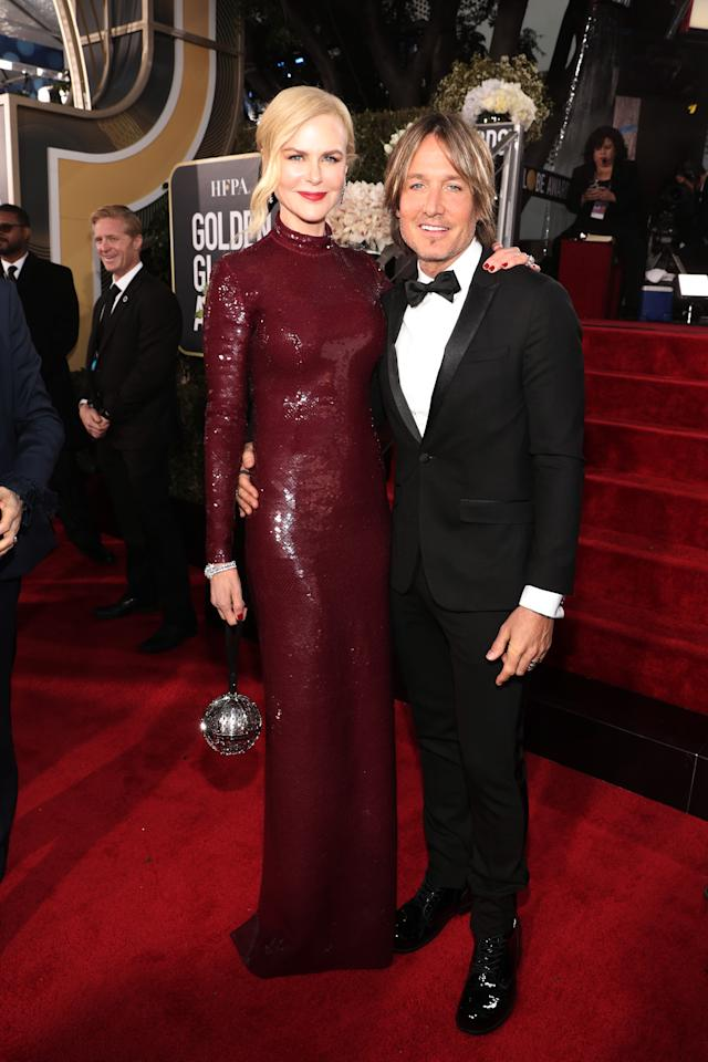 <p>Our favourite Aussie couple, Nicole Kidman and Keith Urban, looked just as loved-up as ever on the red carpet. Photo: Getty Images </p>