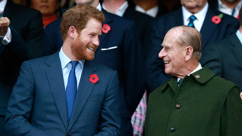 Prince Harry is 'self-isolating' in the US in case he needs to go home to the UK over fears for Prince Philip's health. Photo: Getty
