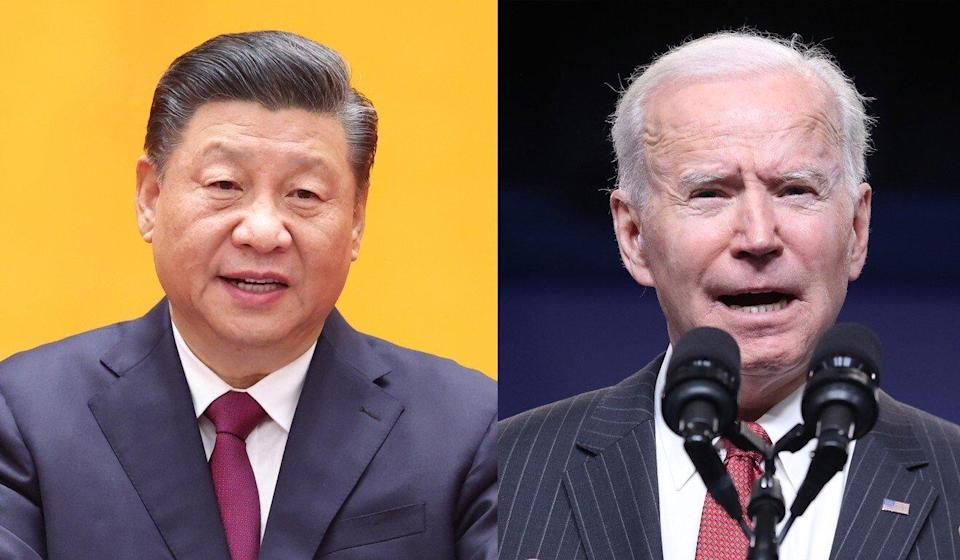 Xi Jinping and Joe Biden clashed over China's economic practices and human rights abuses in a phone call last month. Photo: Xinhua, Bloomberg