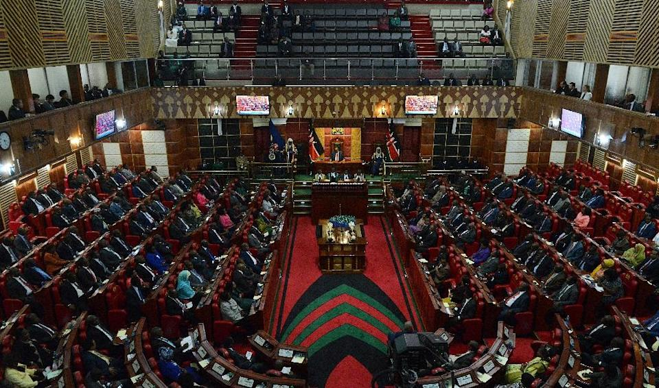 Kenya's current male-dominated parliament has repeatedly rejected legislation that states no more than two thirds of lawmakers should be men (AFP Photo/SIMON MAINA)