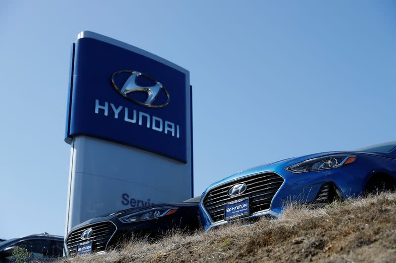 FILE PHOTO: Cars for sale are seen at Hyundai of Serramonte in Colma, California