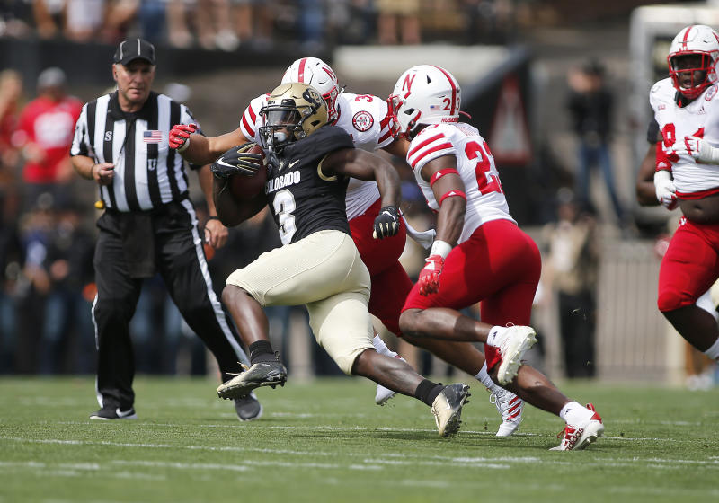 BOULDER, CO - SEPTEMBER 07: Colorado Buffaloes wide receiver K.D. Nixon (3) runs the ball during the first half of a game between the Colorado Buffaloes and the visiting Nebraska Huskers on September 7, 2019 at Folsom Field in Boulder, CO. (Photo by Russell Lansford/Icon Sportswire via Getty Images)