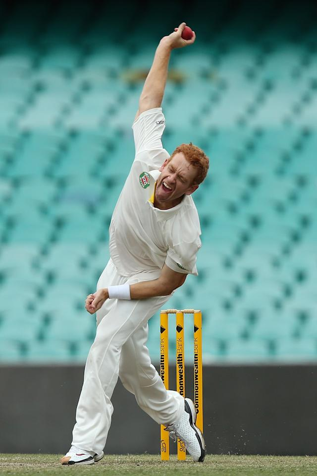 SYDNEY, AUSTRALIA - NOVEMBER 03:  Andrew McDonald of Australia A bowls during day two of the International TOur Match between Australia A and South Africa at Sydney Cricket Ground on November 3, 2012 in Sydney, Australia.  (Photo by Chris Hyde/Getty Images)