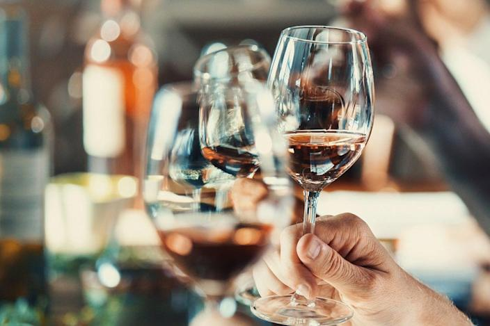 Whether it's a dinner date or a catch up with friends over a video call, these are the wines you can still get delivered to your doorstep (Getty)
