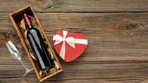 """<p>The dinner reservations are set, the <a href=""""https://www.delish.com/holiday-recipes/g35205017/last-minute-valentines-day-gifts/"""" rel=""""nofollow noopener"""" target=""""_blank"""" data-ylk=""""slk:last-minute gifts"""" class=""""link rapid-noclick-resp"""">last-minute gifts</a> are purchased, and all that's left to do for Valentine's Day is choose the best bottle of wine for the occasion. This might be the hardest part of the entire holiday because you want to try something new and splurge a little bit for a glass you'll actually enjoy. That's where we come in. </p><p>This roundup includes red, white, rosé, and sparkling options for any price point—including those who want to spend the big bucks and those who would prefer something more budget-friendly. No need to be scratching your head at the liquor store either because all of these can be delivered straight to your door via alcohol delivery services, so you can worry about making it to your dinner reservation on time.</p>"""