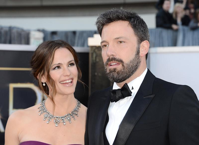 HOLLYWOOD, CA - FEBRUARY 24: Actress Jennifer Garner and actor-director Ben Affleck arrive at the Oscars at Hollywood & Highland Center on February 24, 2013 in Hollywood, California. (Photo by Jason Merritt/Getty Images): getty images