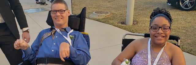 Tylia with her prom date.