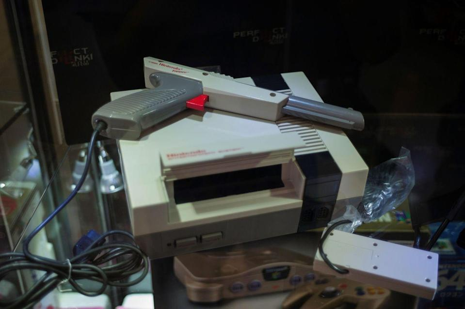 """<p>Gamers can't get enough of old school favorites like Mario Kart 64, which sells for hundreds now. If you get lucky and snatch up a much rarer find, like Nintendo's <a href=""""https://www.mentalfloss.com/article/66183/10-very-rare-and-very-expensive-video-games"""" rel=""""nofollow noopener"""" target=""""_blank"""" data-ylk=""""slk:Stadium Events"""" class=""""link rapid-noclick-resp"""">Stadium Events</a>, you could net more than $35,000 for it.</p>"""