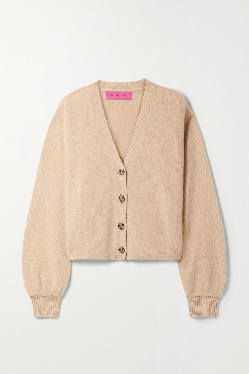"""<p><strong>THE ELDER STATESMAN</strong></p><p>net-a-porter.com</p><p><strong>$995.00</strong></p><p><a href=""""https://go.redirectingat.com?id=74968X1596630&url=https%3A%2F%2Fwww.net-a-porter.com%2Fen-us%2Fshop%2Fproduct%2Fthe-elder-statesman%2Fclothing%2Fcardigans%2Fcashmere-cardigan%2F11452292646160809&sref=https%3A%2F%2Fwww.townandcountrymag.com%2Fstyle%2Ffashion-trends%2Fg22673885%2Fcute-fall-sweaters%2F"""" rel=""""nofollow noopener"""" target=""""_blank"""" data-ylk=""""slk:Shop Now"""" class=""""link rapid-noclick-resp"""">Shop Now</a></p><p>Once you indulge in an Elder Statesman cashmere sweater, your life is simply never the same. With a slightly boxy cut and balloon sleeves, the effect is refined yet simple.</p>"""