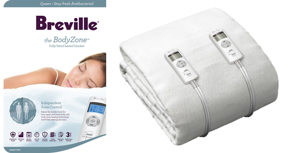This 'multi-zoned' electric heated blanket