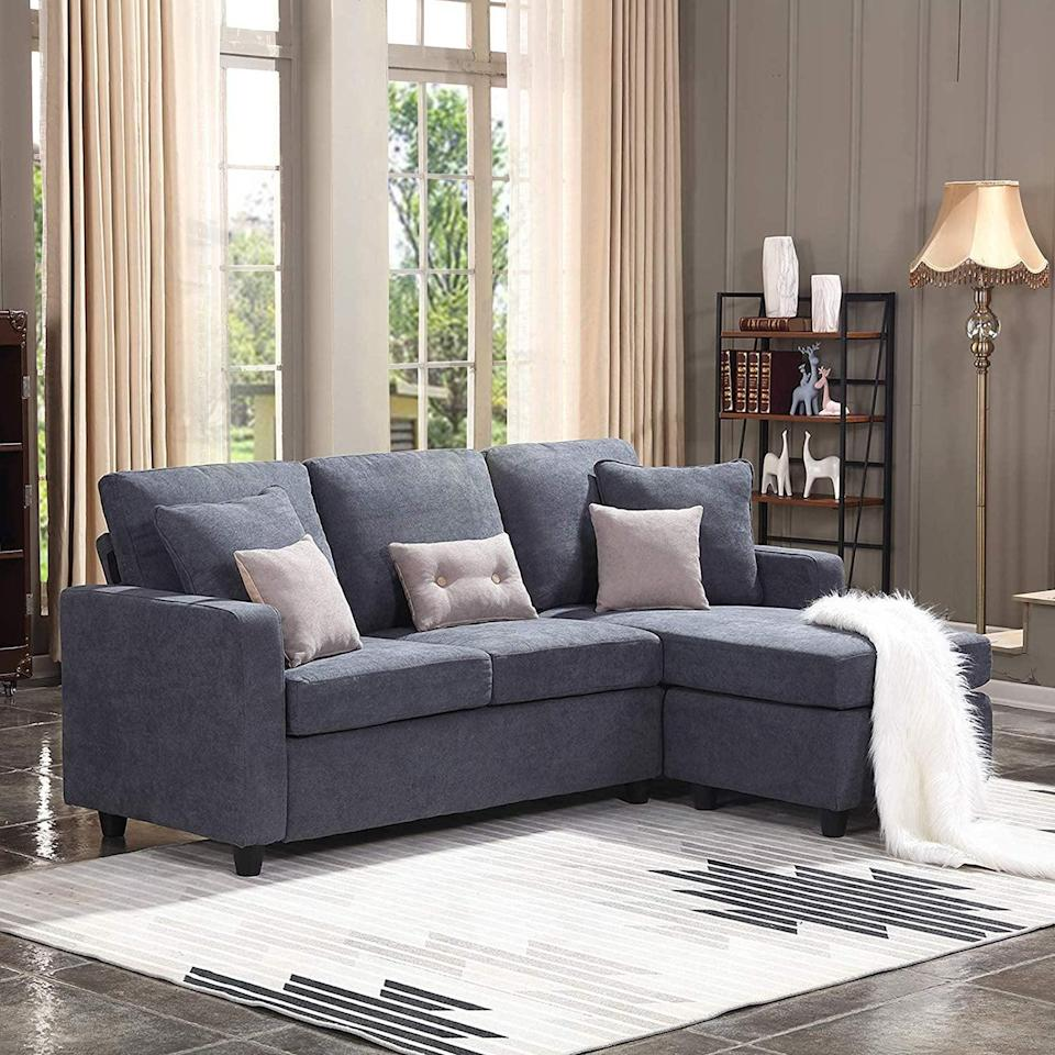 <p>If you're looking for a firm yet comfortable option, try this <span>Honbay Convertible Sectional Sofa</span> ($300).</p>