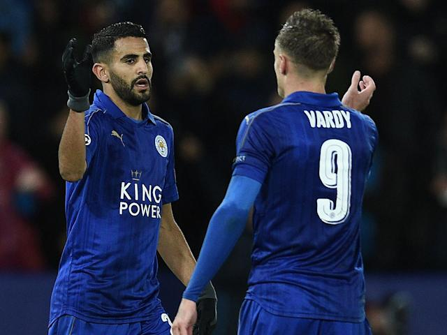 Mahrez and Vardy drove Leicester to the Premier League title last season: Getty