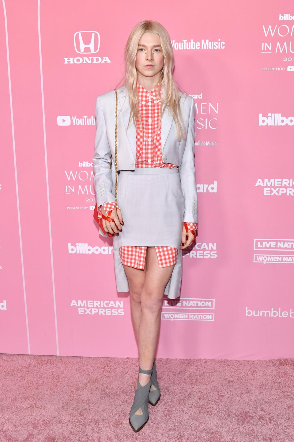 in Burberry at the <em>Billboard</em> Women In Music Awards, Los Angeles, 2019