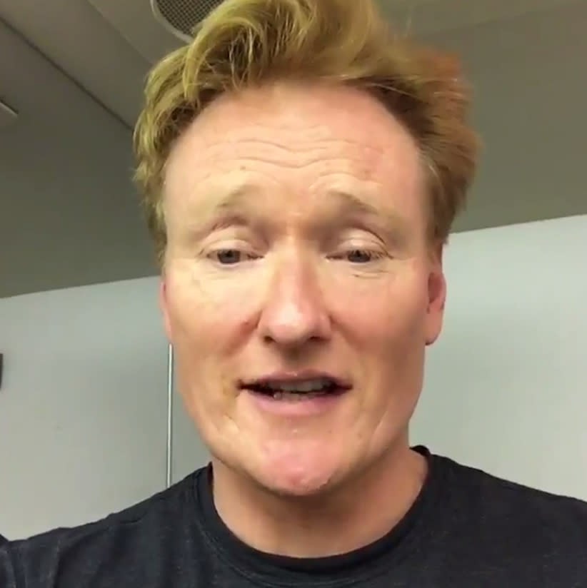 <p>Brushing up on my Hebrew on my El-Al flight to Israel. #ConanIsrael #Israel #Shalom שלום#<br />(Photo: Conan O'Brien via Twitter) </p>