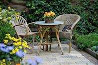 """<p>No matter how tiny or big your patio is, <a href=""""https://www.countryliving.com/gardening/garden-ideas/g30384282/easiest-flowers/"""" rel=""""nofollow noopener"""" target=""""_blank"""" data-ylk=""""slk:flowers"""" class=""""link rapid-noclick-resp"""">flowers</a> in containers can add color, <a href=""""https://www.countryliving.com/gardening/g4195/best-fragrant-outdoor-plants/"""" rel=""""nofollow noopener"""" target=""""_blank"""" data-ylk=""""slk:fragrance"""" class=""""link rapid-noclick-resp"""">fragrance</a>, and beauty to your outdoor space in a hurry. You can change them up from year to year and season to season to keep your look fresh. And if something starts to fade, it's easy to <a href=""""https://www.countryliving.com/gardening/g3280/flower-pictures/"""" rel=""""nofollow noopener"""" target=""""_blank"""" data-ylk=""""slk:swap it out for new plants"""" class=""""link rapid-noclick-resp"""">swap it out for new plants</a>. But before falling in love with plants online or at the nursery, do some homework. How much sun does your patio get? Is it all-sun, all the time? Or is it shady for most of the day? You need to select plants that can take the conditions. If a plant label or description says full sun, that's about 6 or more hours per day. Part sun or part shade is about half that. Consider what time of day your patio gets sun, too. Is it gentle, morning sun or hot-as-blazes afternoon sun? Plants that prefer part shade aren't going to be happy sizzling in hot afternoon sun. </p><p>For best season-long color, display both <a href=""""https://www.countryliving.com/gardening/garden-ideas/a24843987/annual-vs-perennial/"""" rel=""""nofollow noopener"""" target=""""_blank"""" data-ylk=""""slk:annuals"""" class=""""link rapid-noclick-resp"""">annuals</a> and <a href=""""https://www.countryliving.com/gardening/garden-ideas/g24942296/full-sun-perennials/"""" rel=""""nofollow noopener"""" target=""""_blank"""" data-ylk=""""slk:perennials"""" class=""""link rapid-noclick-resp"""">perennials</a> (which come back for many years) on your patio. Just read the labels to be sure perennials are suited to your win"""