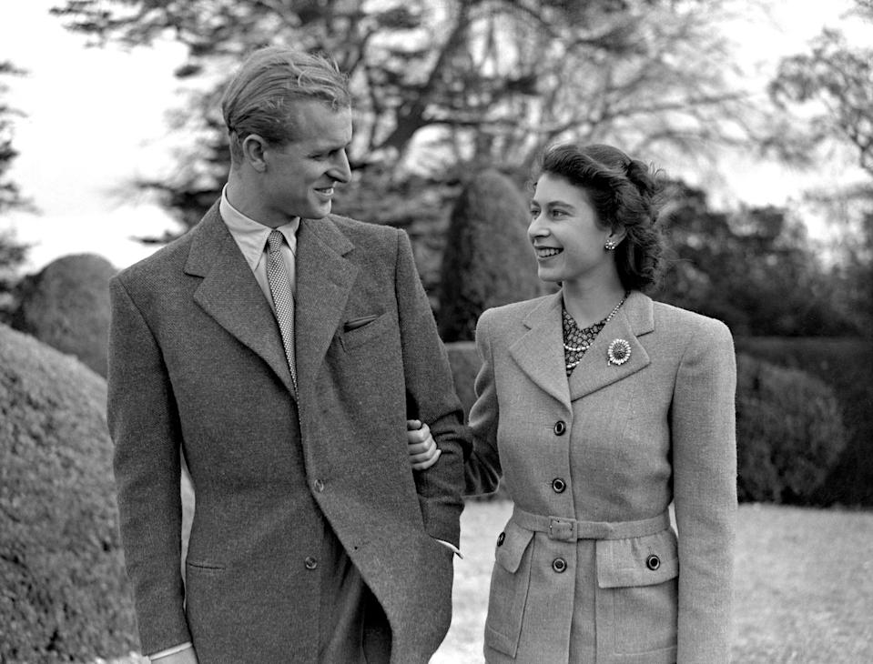 The Royal Couple, pictured looking happy on their honeymoon in 1947, went off to Balmoral after visiting Hampshire. The honeymoon lasted a total of three weeks.