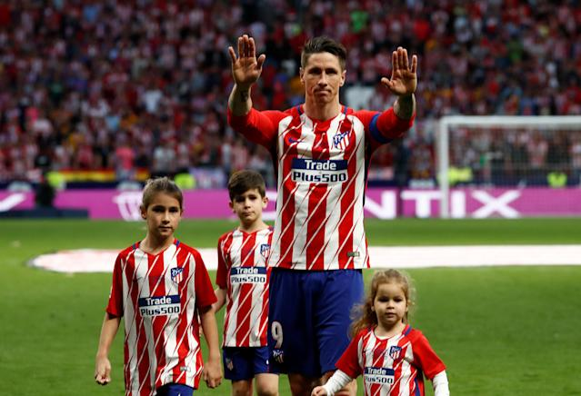 Soccer Football - La Liga Santander - Atletico Madrid vs Eibar - Wanda Metropolitano, Madrid, Spain - May 20, 2018 Atletico Madrid's Fernando Torres after the match REUTERS/Juan Medina