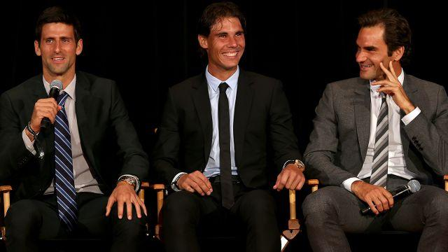 Djokovic, Nadal and Federer. Image: Getty