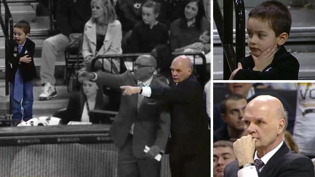 """Phil Martelli's 4-year-old grandson helped """"coach"""" during A10 championship"""
