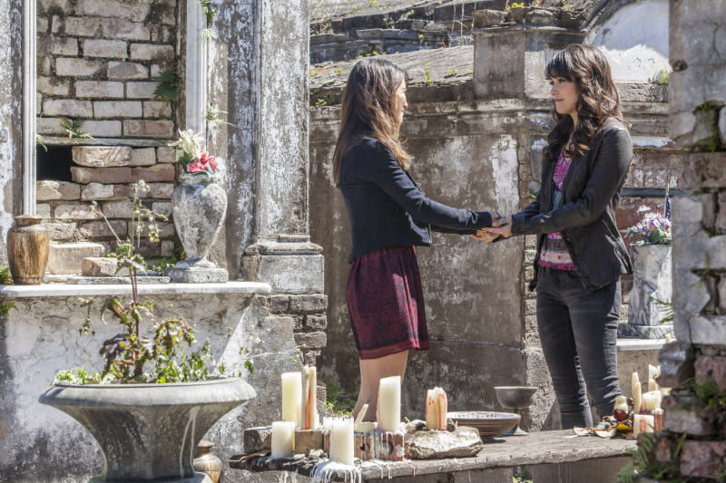 """The Originals"" -- Malaya Rivera Drew as Jane-Anne and Daniella Pineda as Sophie"