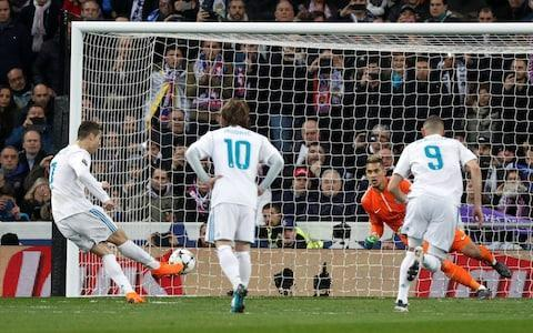 """Real Madrid certainly wobbled but, having fallen repeatedly this season in domestic competition, they ultimately again stood tall here on their favourite Champions League stage. A sub-plot of Cristiano Ronaldo 2, Neymar 0 was also another blow for the old guard against the emerging challenge of Paris St-Germain and effectively the difference in a wider 3-1 scoreline. Yet it is still only half-time in the tie and, while Madrid's late flurry certainly gives them a crucial advantage and prompted unwanted PSG reminders of an even more spectacular collapse in Barcelona last season, there was enough here to suggest that an upset remains feasible. """"The scoreline does not reflect what was seen on the pitch,"""" said PSG manager Unai Emery, who also made the unconvincing claim that referee Gianluca Rocchi had favoured Madrid. His team had earlier taken the lead and, with Kylian Mbappe and Neymar both wasting excellent chances, had their finishing to blame for not leaving with more than a solitary away goal. Credit was also due to Zinedine Zidane who, with his very future in doubt amid a 17-point La Liga gap to Barcelona, changed the game with the attacking substitutions of Gareth Bale and most crucially Marco Asensio. Average touch positions (0 min) An unprecedented hat-trick of Champions League titles remains possible even amid further signs that Real's most recent period of European dominance is drawing to a close while Ronaldo, even at 33, is clearly not yet ready to hand over the Ballon d'Or to Neymar. Ronaldo's goals maintained a record of scoring in every European game so for this season and also ensured that he became the first player to reach the individual tally of 100 for one club. """"The club has 12 Champions Leagues and there is a reason for that – the players know what is on the line,"""" said Zidane, who had earlier sprung something of a surprise in opting initially for Isco rather than Bale in an attempt to dominate midfield. Isco's industry off the ball ensured that """